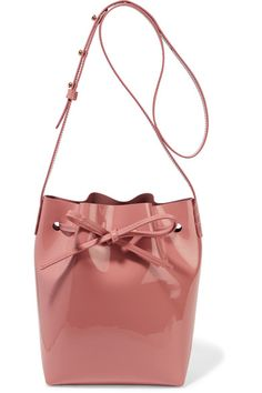 Mansur Gavriel - Mini Patent-leather Bucket Bag - Antique rose - one size
