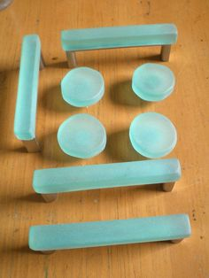 Sea glass knobs and pulls Kitchen Cabinets Knobs And Pulls, Diy Cabinets, Bathroom Cabinets, Kitchen Hardware, Beach House Bathroom, Beach House Decor, Home Decor, Glass Bathroom, Master Bathroom