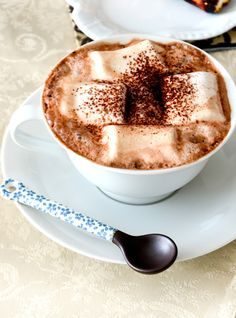 hot coco with marshmallows