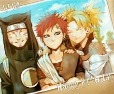 i have the same b day as Gaara!
