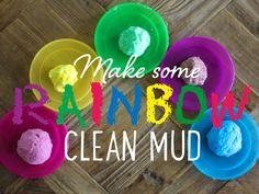 Make some rainbow clean mud - Kidspot