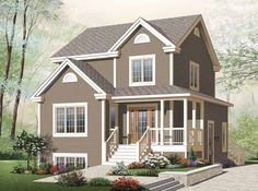Country House Plan with 2095 Square Feet and 4 Bedrooms from Dream Home Source | House Plan Code DHSW65226