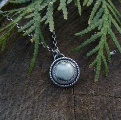 Ocean Jasper and Sterling Silver Necklace. Sage Green Ocean Jasper. Twisted Rope Detailing Darkened Patina. Artisan Handcrafted. 18 inch. by QuietTimeJewelry on Etsy