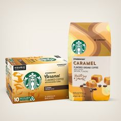 Flavored Coffees | Starbucks® Coffee at Home Starbucks Caramel, Caramel Latte, Starbucks Coffee, Roasting Coffee At Home, Cinnamon Dolce, Iced Latte, Caramel Flavoring, Vanilla Cream, Cream Recipes