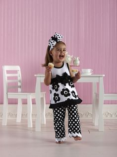 Baby Girl Clothes Boutique | Mud Pie Pleated Ruffle Dress with Bell Bottoms