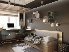 Дизайн подростковой спальни 13 м2 - фото 1