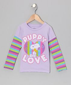 Gray & Pink 'Puppy Love' Stripe Layered tee - Toddler by Peanuts by Charles Shultz on #zulily today!