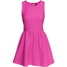 H&M Jersey dress ($6.54) ❤ liked on Polyvore featuring dresses, vestidos, pink, short dresses, cerise, short flared dresses, jersey dress, zipper mini dress, h&m dresses and pink fit-and-flare dresses