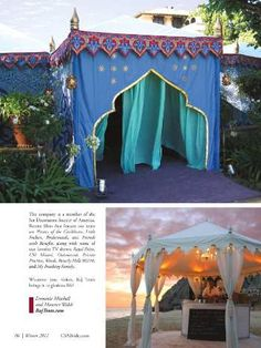 Moroccan Party - Possibly drape bright colored fabric swags inside tent for dinner or by door to outside tent. Arabian Tent, Arabian Party, Arabian Nights Theme, Moroccan Party, Moroccan Theme, Tent Awning, Canopy Tent, Gazebo, Garden Oasis
