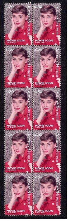 Audrey Hepburn Movie Icon Strip of 10 Mint Stamps 3   eBay