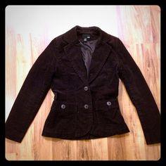 H&M corduroy blazer Classy, professional blazer. Dark eggplant color. H&M Jackets & Coats Blazers