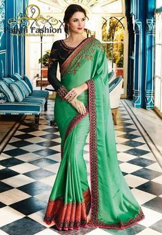 eb88ea52664 Palkhi Fashion Exclusive Turquoise Silk Designer Saree With handwork Blouse Indian  Sarees Online
