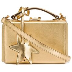 Mark Cross Saffiano Mini Grace Star Box - Gold ($2,095) ❤ liked on Polyvore featuring bags, handbags, kirna zabete, top handles, beige purse, top handle handbags, mark cross handbags, gold handbags and mini handbags