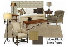 Comfortable, traditional living room