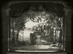 """ Götterdämmerung "" 2.Aufzug 1896 Bühnenphoto ca.1905"