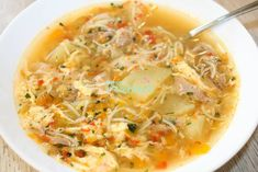 Cheeseburger Chowder, Thai Red Curry, Food And Drink, Ethnic Recipes, Soups, Soup, Chowder