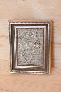 Reindeer Mixed Media Art by KetchupnPomegranates on Etsy, $25.00