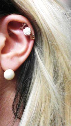 My LOVE earing-cartilage piercing :)