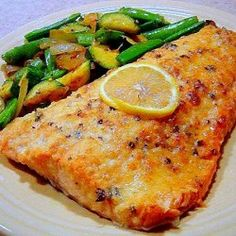 Easy Lemon Parmesan Baked Salmon - Simple, delicious and very healthy way to get dinner on the table in just a few minutes!