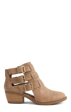 Deb Shops Short #Western #Booties with Gold Buckles $23.34