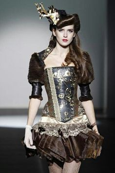Steampunk - it would be better if they used real clock parts on the corset, but still cute.