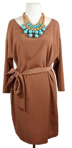 Little Tan Dress - Dresses