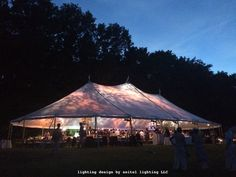 A Williamstown sailcloth wedding tent with abstract pastel gobo lighting by Seitel Lighting LLC. Wedding Tent Lighting, Tent Wedding, Sailing Outfit, Lighting Design, Pastel, Abstract, Outdoor Decor, Inspiration, Beautiful