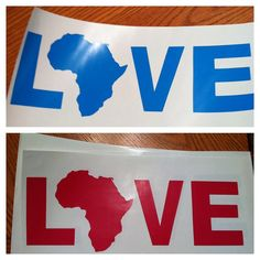 Africa Love Car Window Decal by AndreasAfricanCrafts on Etsy