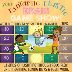 Your Fantastic Elastic Brain interactive, low-prep game show Teamwork Skills, Coping Skills, Brain Activities, Teaching Activities, Teaching Ideas, Tennis Lessons For Kids, Growth Mindset Lessons, Brain Book, Prep Book