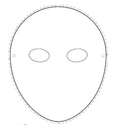 Mask Template Round Face 370×404 Pixels