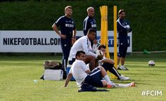Medel entrena con el Inter de Milán