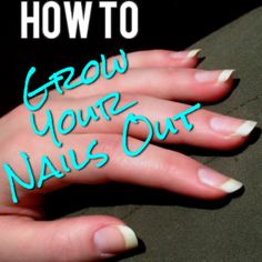 How to Actually Grow Out Your Nails. Lots of useful tips here – I actually had n… How to Actually Grow Out Your Nails. Lots of useful tips here – I actually had no idea that you were only supposed to file in one direction. Grow Long Nails, How To Grow Nails, Diy Nails, Cute Nails, Pretty Nails, Nagel Hacks, Nail Growth, Healthy Nails, Tips Belleza