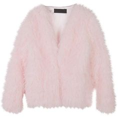 Stylenanda Women's Basic Boxy Fur Jacket (€100) found on Polyvore featuring outerwear, jackets, tops, pink, pink jacket, boxy jacket, pink fur jacket and fur jacket