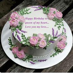 Birthday Cake Pictures – Very Good Abi – pastalar – … - Cake Decorating Square Ideen Fancy Cakes, Cute Cakes, Pretty Cakes, Beautiful Cakes, Amazing Cakes, Cake Icing, Buttercream Cake, Eat Cake, Cupcake Cakes