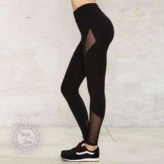 HAODUOYI HDY 2018 Black Pants Women Brief Mesh Contrast Basic Leggings Ladies Casual Sexy High Waist Street Slim Trousers Female