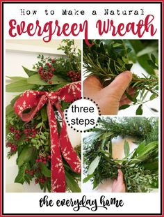 Evergreen Wreath Tutorial | The Everyday Home Blog