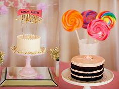 put the lollipops in the cake- cuteness