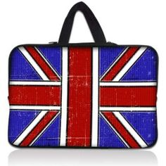 "Nostalgic Union Jack 17.1"" 17.3"" inch Laptop Bag Sleeve Case with Hidden Handle for Apple MacBook pro 17/Dell Inspiron 17R Alienware M17x/Samsung 700 Sony Vaio"