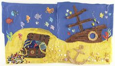 Cute shipwreck/ ocean wall display