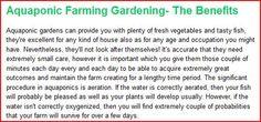 The Benefits Of #Aquaponics Farming Gardening http://aquaponicfarming.blogspot.com/2012/02/aquaponic-farming-gardening-benefits.html
