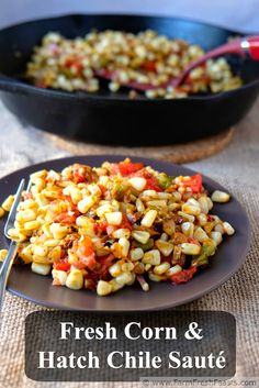 Roasted Hatch Chile And Corn Rice Recipe — Dishmaps
