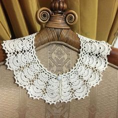 Openwork Collar Handmade Lace Collar Woman Neck Accessory Knitted... (625 UAH) ❤ liked on Polyvore featuring accessories