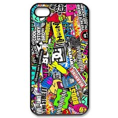 Hoonigan Ken Block Smiley DC Various Brands Logo Graffiti Sticky Bomb Hard Cover Case For iPhone 7 7plus