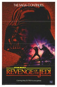 """Before George Lucas decided that it really wasn't in a Jedi's nature to seek revenge, this teaser poster was produced. When """"Revenge"""" was replaced with """"Return"""", they were pulled from cinemas and available for sale for $3 apiece from the Star Wars Fan Club.  Nerd alert: Note the colours of Luke's and Vader's lightsabers - in the completed film, they're switched."""