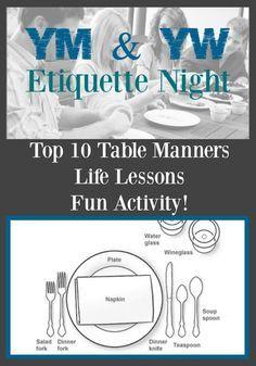 Mother Daughter Etiquette Dinner Etiquette dinner Etiquette and