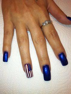 Rebeca Lopez - Patriotic Nail Art, Thanks for entering! #imfancynailart
