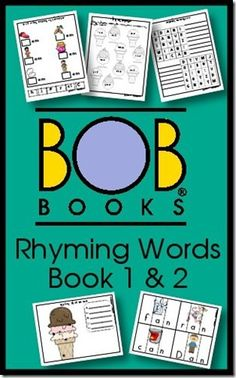 BOB Books Rhyming Words Printables