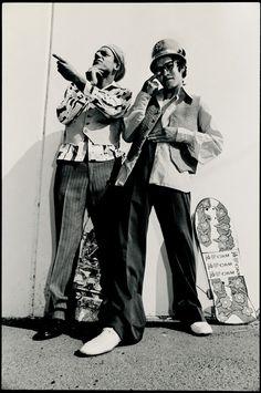 Natas Kaupas Mark Gonzales Skateboarding Photo 11X14 on 16X20 Paper - 80s Skate Photo. $250.00, via Etsy.