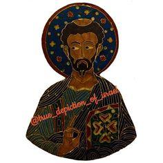 Luke from Byzantine Medallion made in Constantinople St Luke, Bubonic Plague, Afro Men, Images Of Christ, Black Jesus, Black Death, Black Image, Old Testament, Black Artists