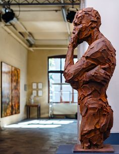 'Sagace' 110cm by Catherine Thiry @ Kantfabriek expo #bruxelles #sculpturact #sculptured #catherinethiry #ateliercathiry #contemporarysculptor #contemporary sculpture